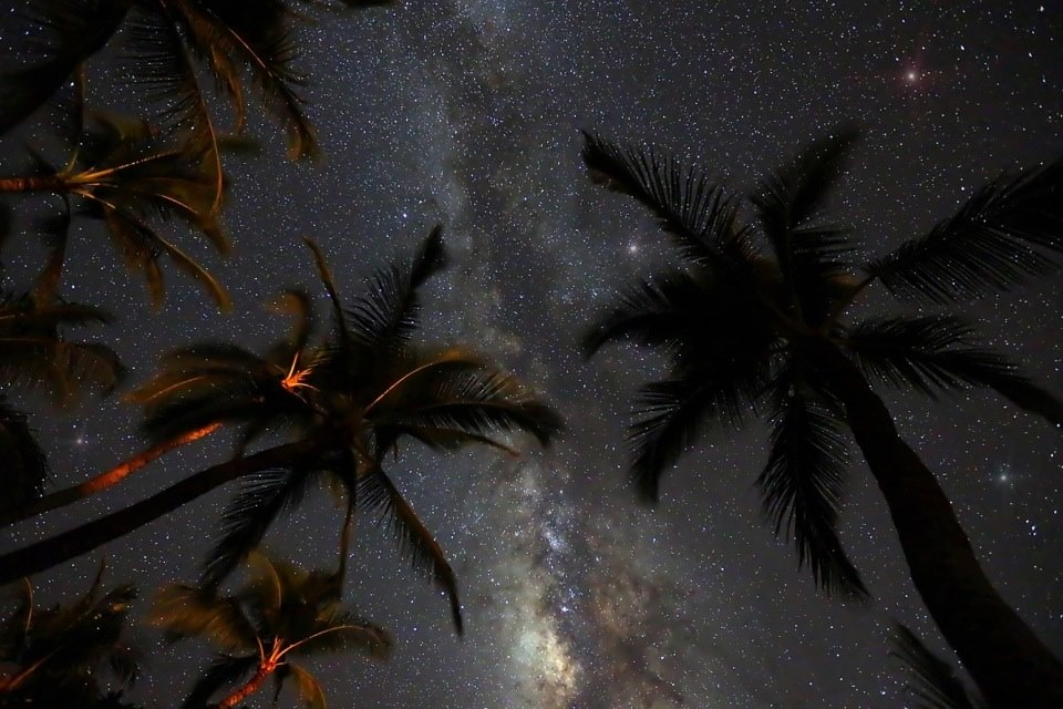 Stary night sky in San Blas Islands Sailing Panama to Colombia